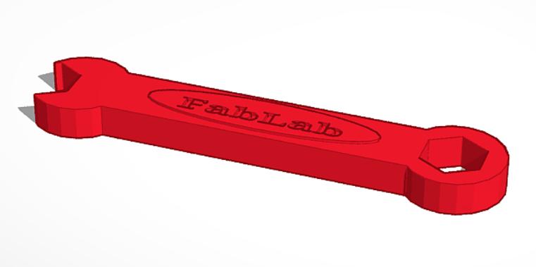 Proyecto en diseño 3D: Llave de tuerca